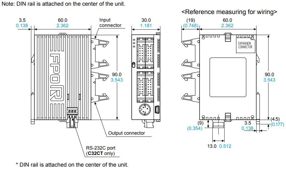 panasonic fp0-10 controller dimensions