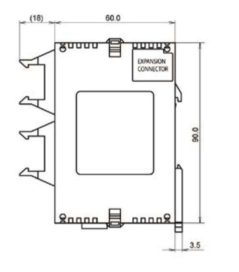 panasonic fp0-16 controller dimensions