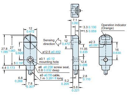 panasonic gf12 sensor dimensions