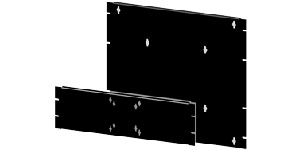RMMB Rack Mount Flat Panel Monitor Bracket
