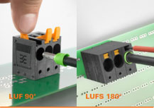 LUF Series PCB terminal up to 16 mm² with PUSH IN connection