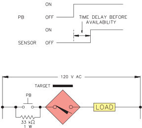 How do you wire Turck AC sensors in series?