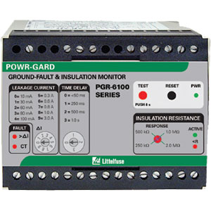 Littelfuse PGR-6100 Ground-Fault & Insulation Monitoring Relays Distributors