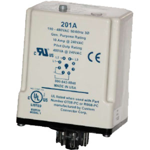 Littelfuse/SymCom 201A 3-Phase Voltage/Phase Monitors Distributors