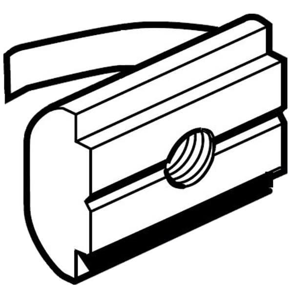 BOSCH 10mm swivel in spring T block 3842529300