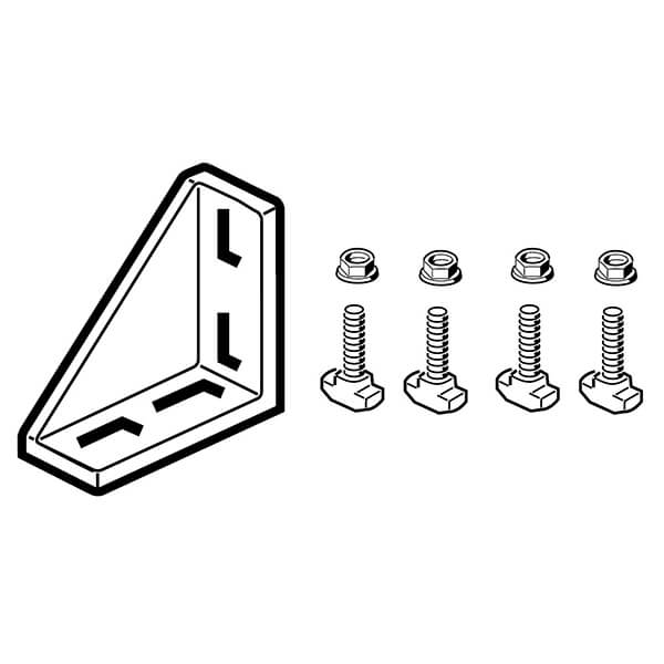 BOSCH 45x90 gusset with 4 fasteners  3842523570