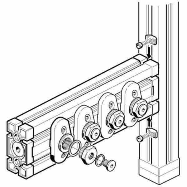 BOSCH Pre-assembled Air Bar 10mm 3842352088
