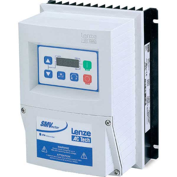 Lenze AC Tech ESV371N04TXC 400/480 VAC Nema 4X (IP65) Indoor 0.5 HP SMV VFD Drive Inverters