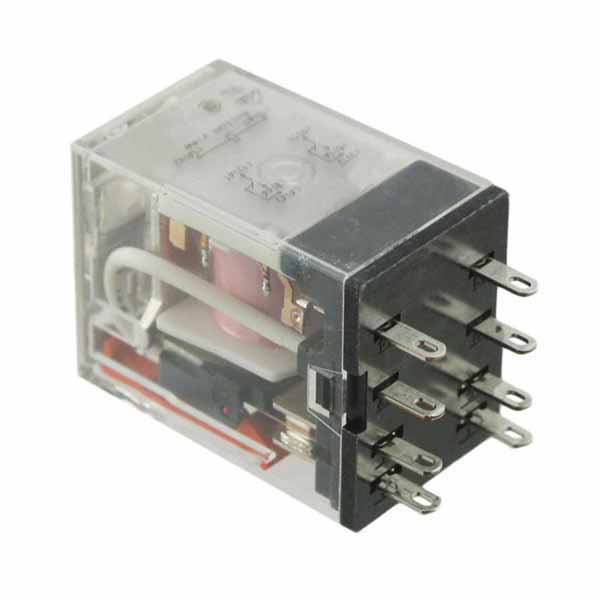 Omron General Purpose Relay 4PDT 24 VDC 5A LED indicator