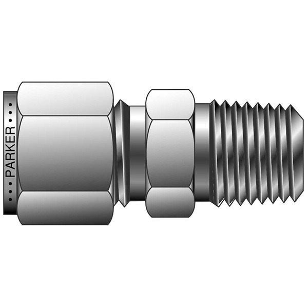 Parker 4-12 FH4BZ-SS Thermocouple Compression Fitting