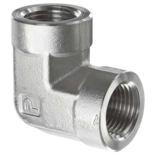 Fe ss pipe fittings elbow parker valin