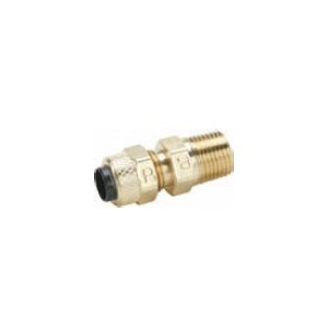Tube to Pipe Parker 68VL-6-4 Vibra Lok Compression Style Fitting 3//8 and 1//4 Compression Connector Brass