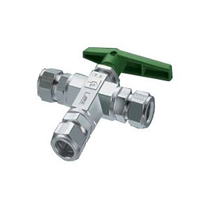 Parker CPI Three Way B-Series Ball Valve