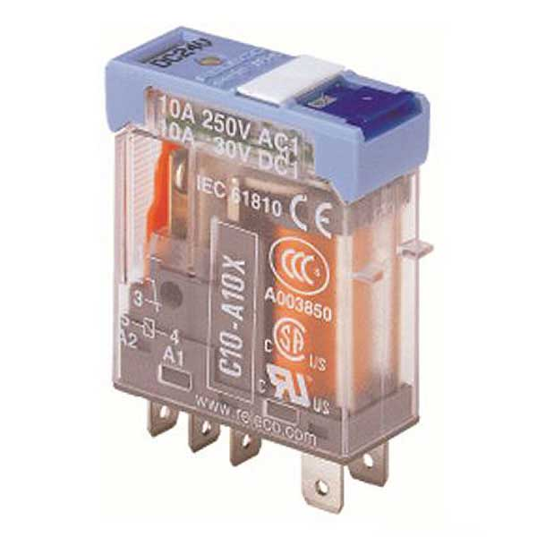 C10-A10X/120VAC TURCK Releco 1-Pole Changeover 120 VAC Interface Relay