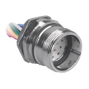 CKCM 12-9-10 TURCK M23 12-pin front mount female receptacle