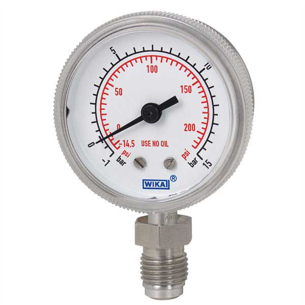 WIKA 230-25 High Purity Pressure Guage 4277440