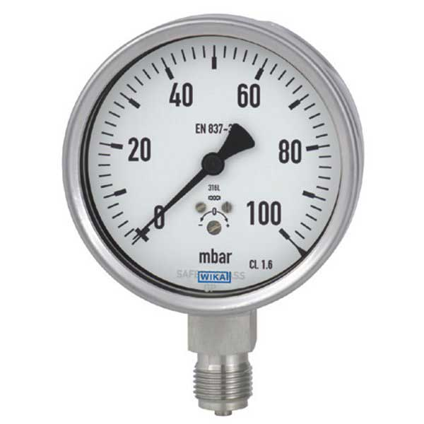 9804307 WIKA | 612 34 Low Pressure Capsule Gauge | Valin