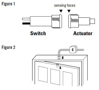 How To Install GuardSwitch Series 126 Magnetic Door Position Switch